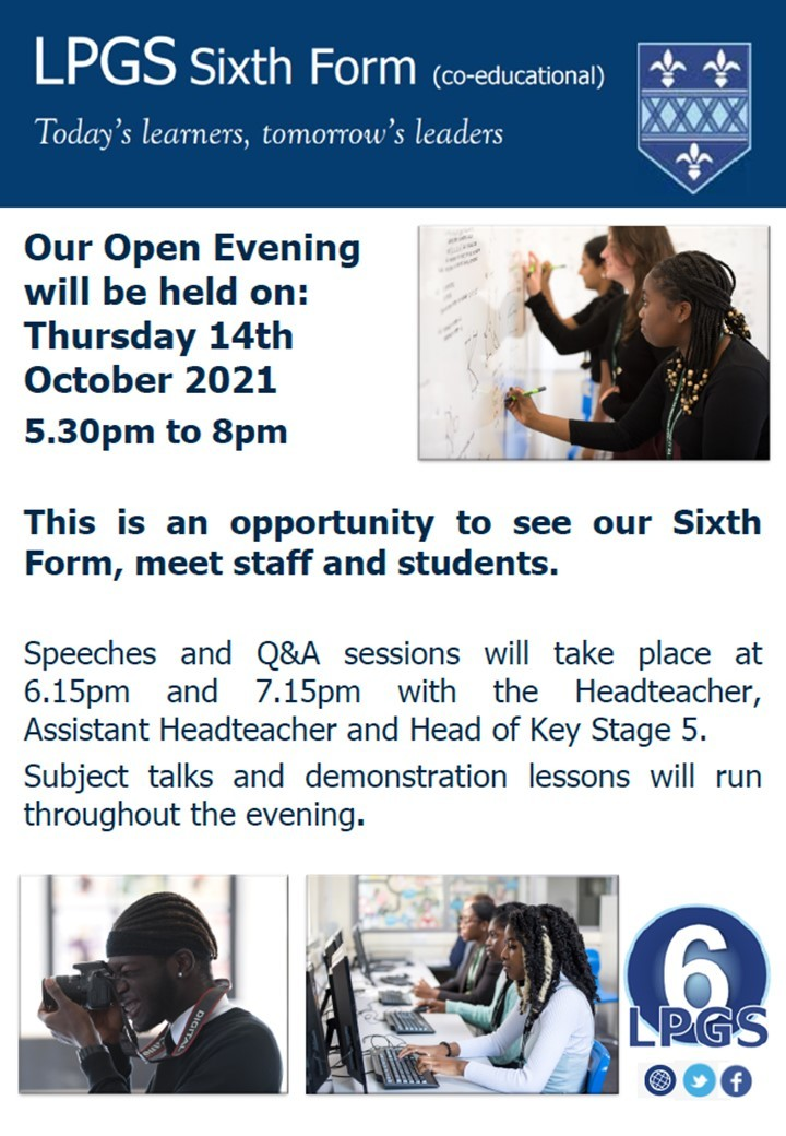 Sixth Form Open Eve 1